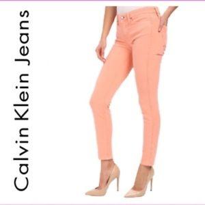 Calvin Klein Peach Ankle Skinny Jeans